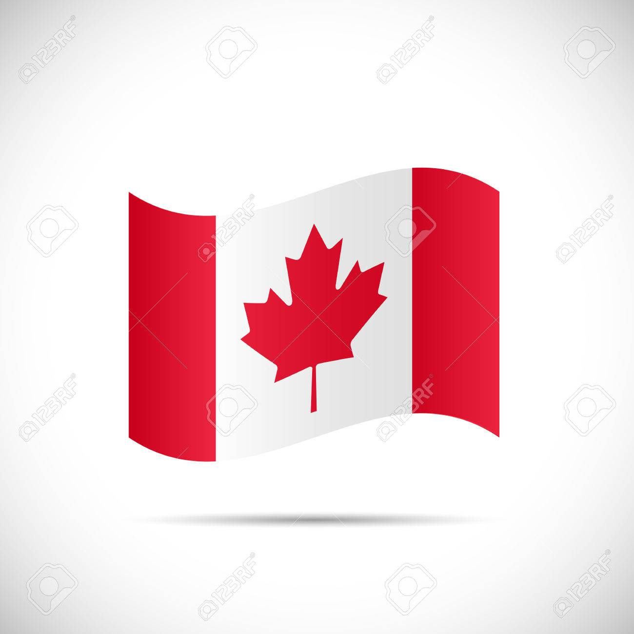 Illustration of the flag of Canada isolated on a white background. - 34766495