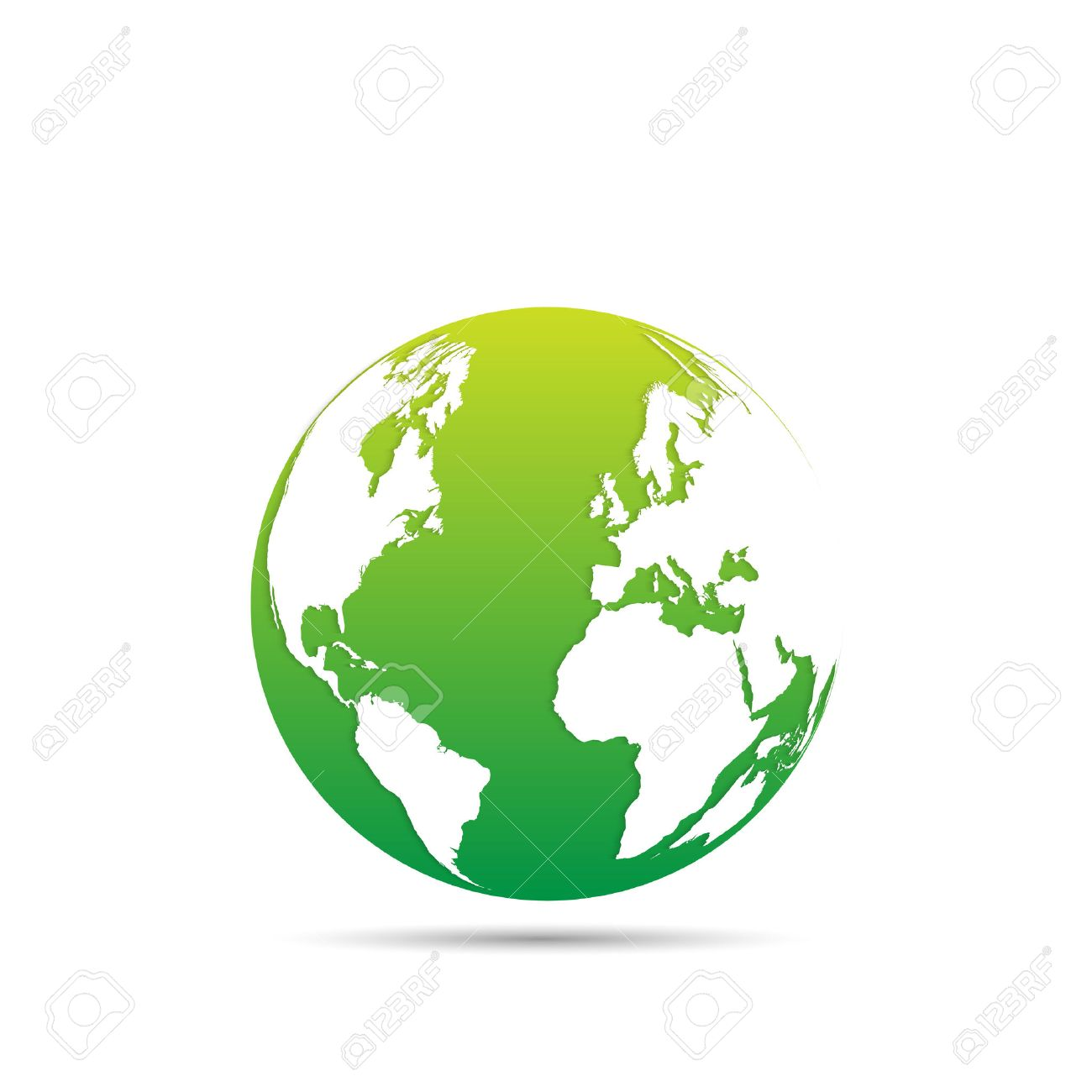 Illustration Of An Eco Friendly Green Earth Design Isolated On