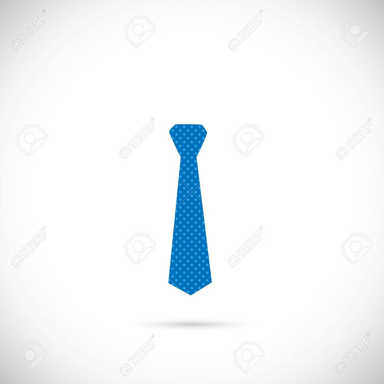 2019 professionnel pas cher ramassé Illustration d'une cravate bleu coloré isolé sur un fond blanc.