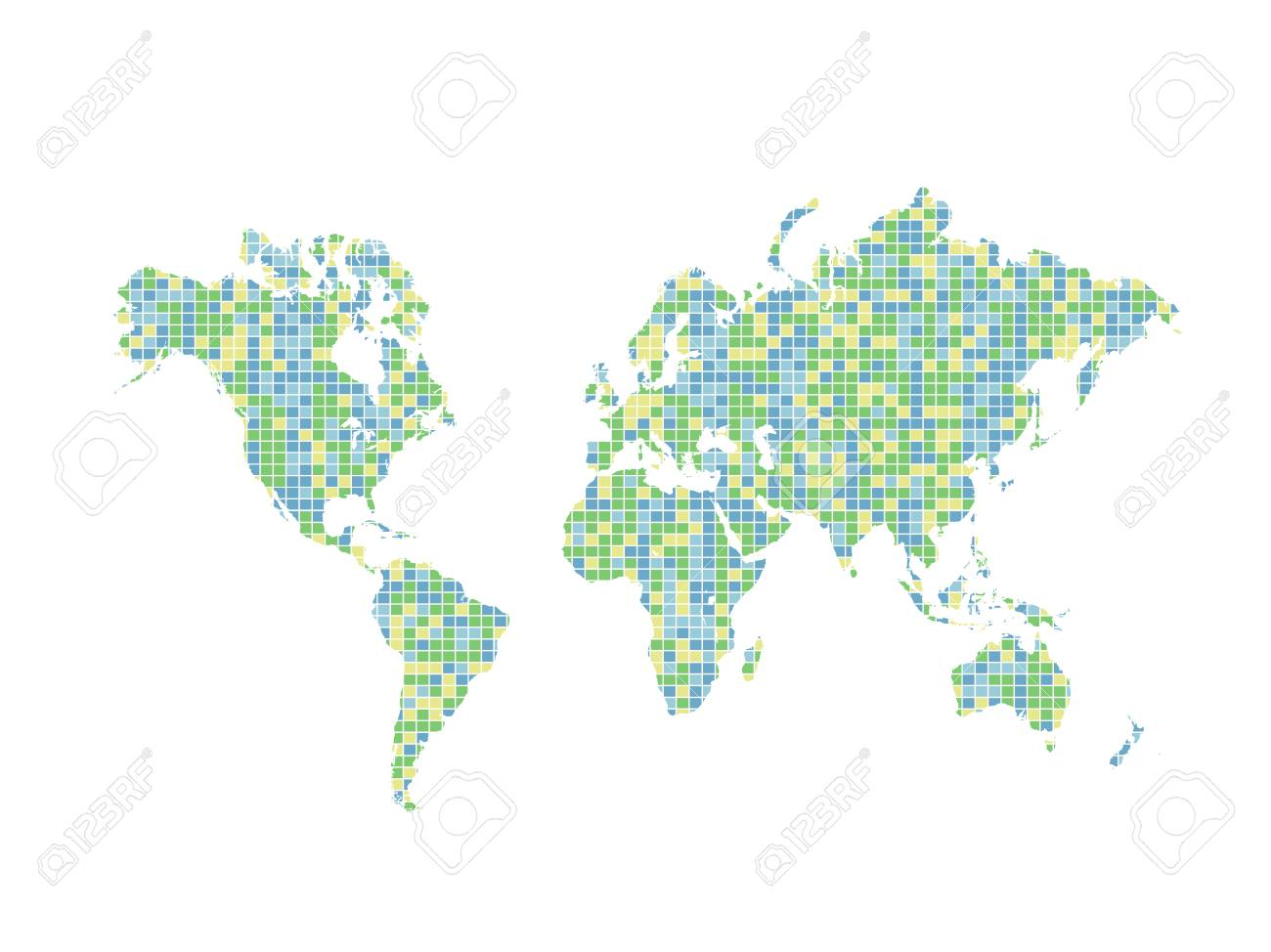 Illustration of a colorful world map design isolated on a white illustration of a colorful world map design isolated on a white background stock vector gumiabroncs Gallery