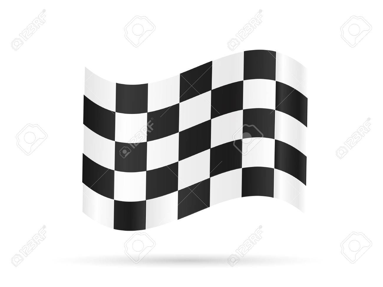 Illustration of a checkered flag isolated on a white background. - 38775101