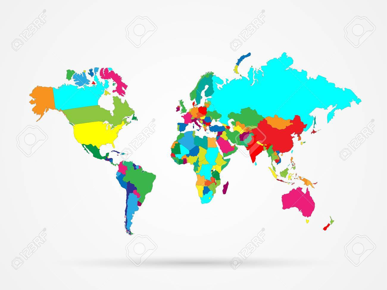 Illustration of a colorful world map isolated on a white background illustration of a colorful world map isolated on a white background stock vector 39520655 gumiabroncs Gallery