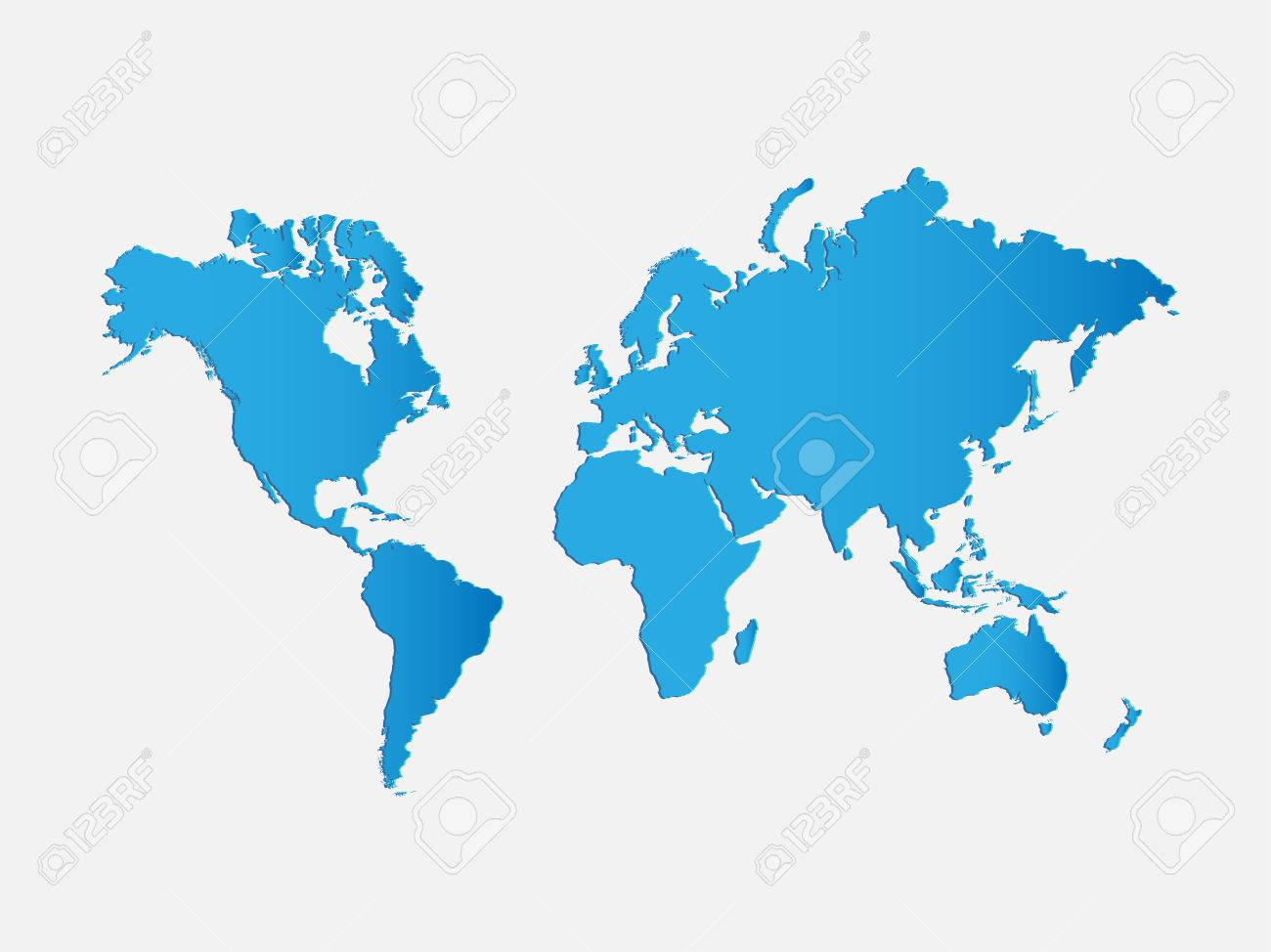 Illustration of a world map isolated on a white background. - 39520768