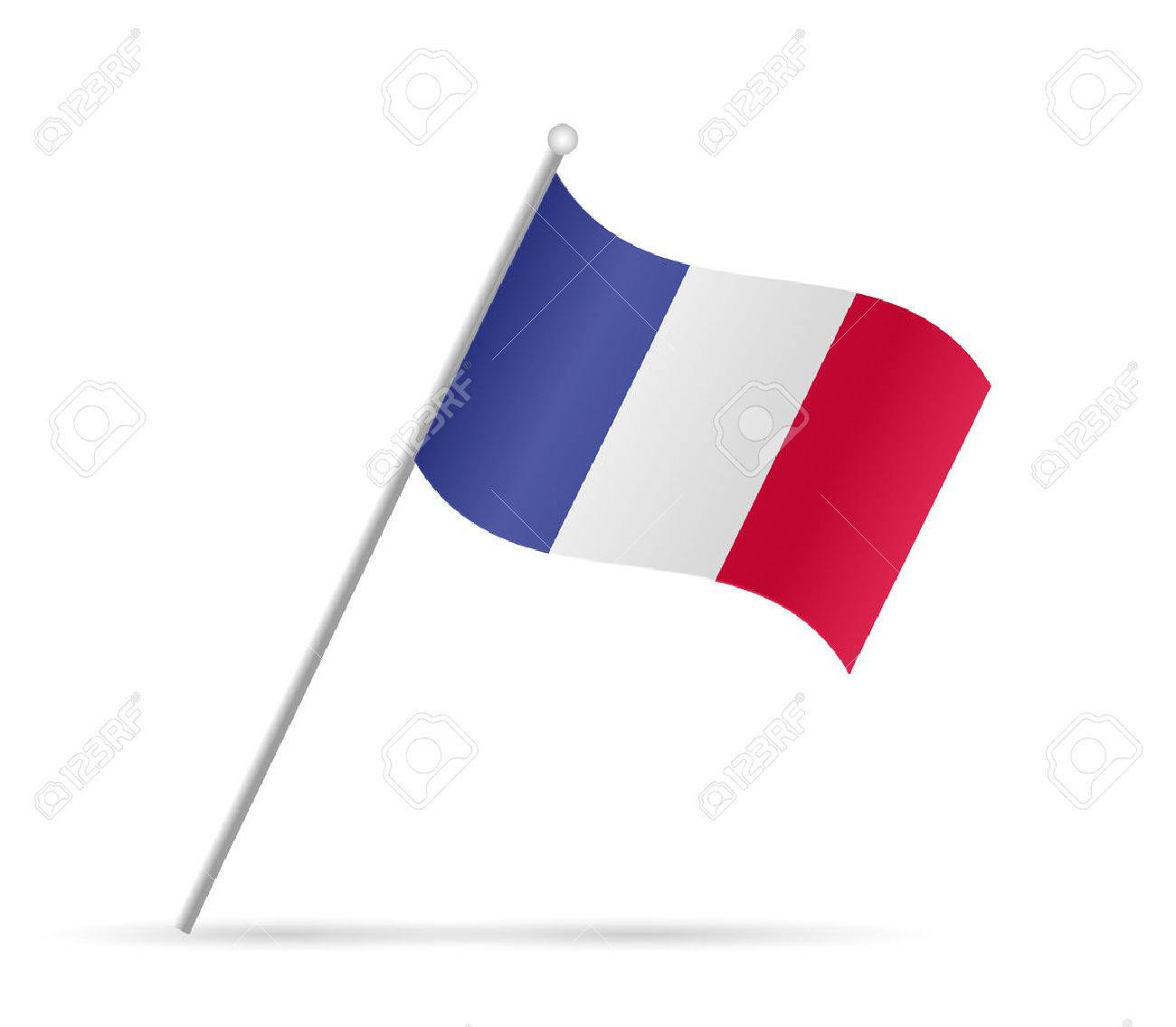 Illustration of a flag from France isolated on a white background. - 49971429