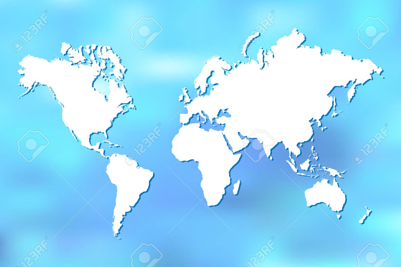 Colorful world map illustration on a blue blurry backdrop royalty colorful world map illustration on a blue blurry backdrop stock vector 91419155 gumiabroncs Gallery