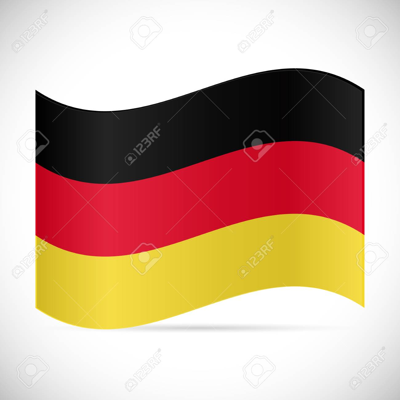 Illustration of the flag of Germany isolated on a white background. - 97016059