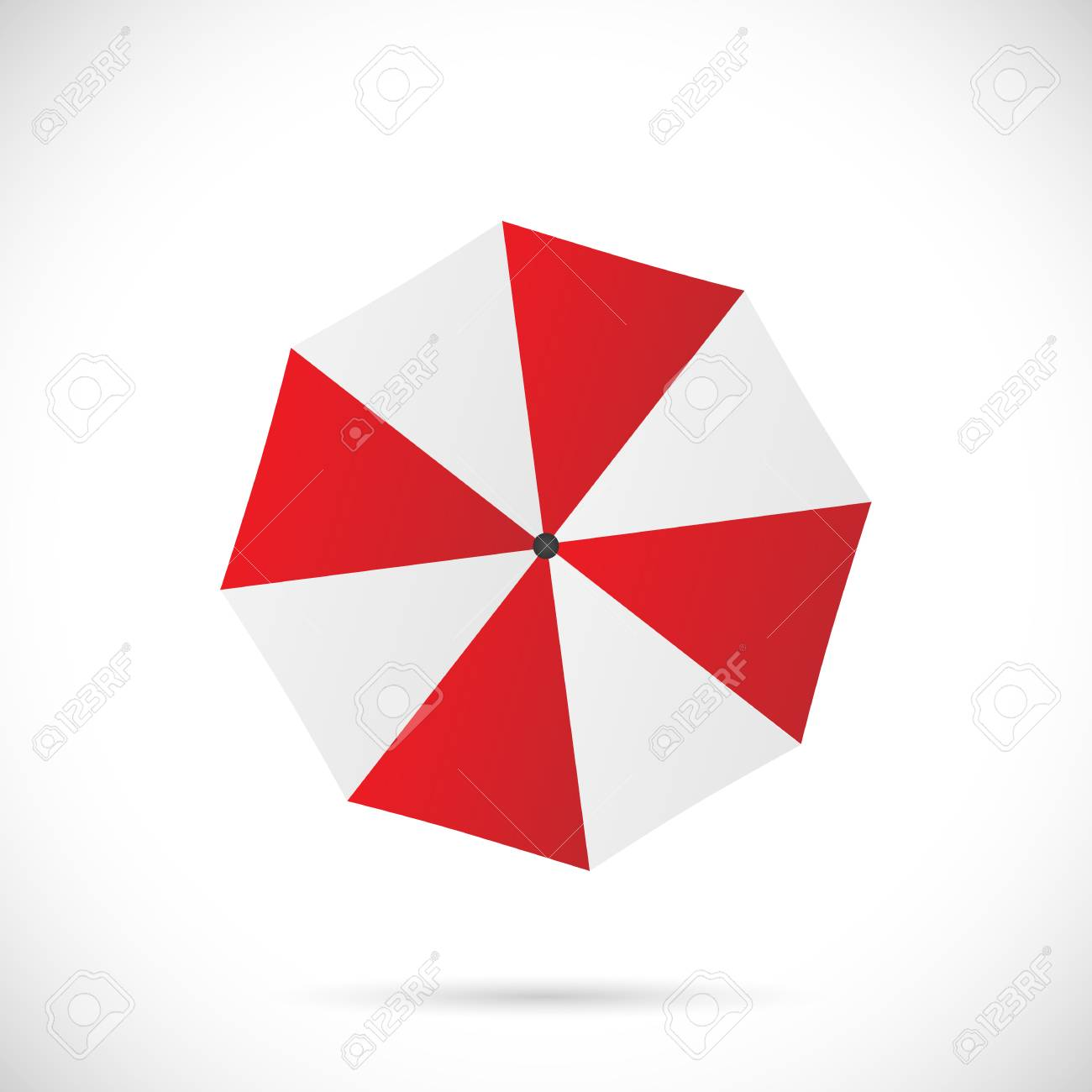Illustration of an umbrella isolated on a white background. - 97016083