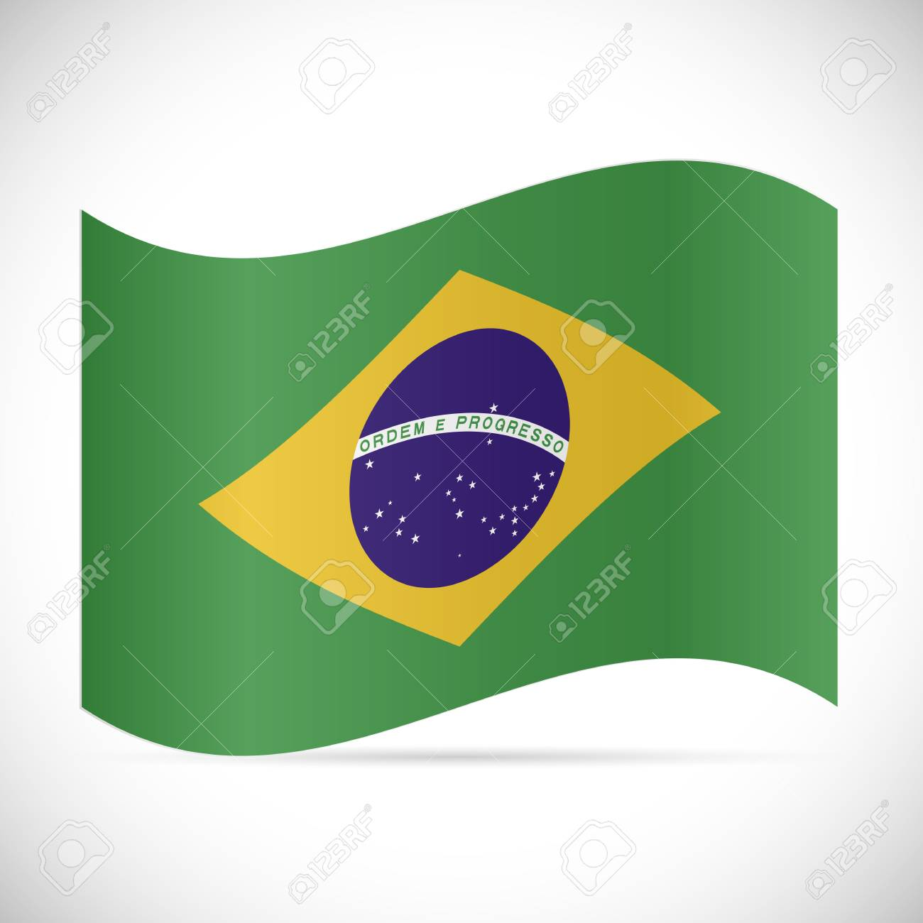Illustration of the flag of Brazil isolated on a white background. - 97101987