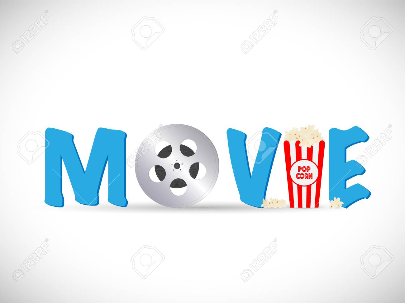 Illustration of a movie text image isolated on a white background. - 97016244