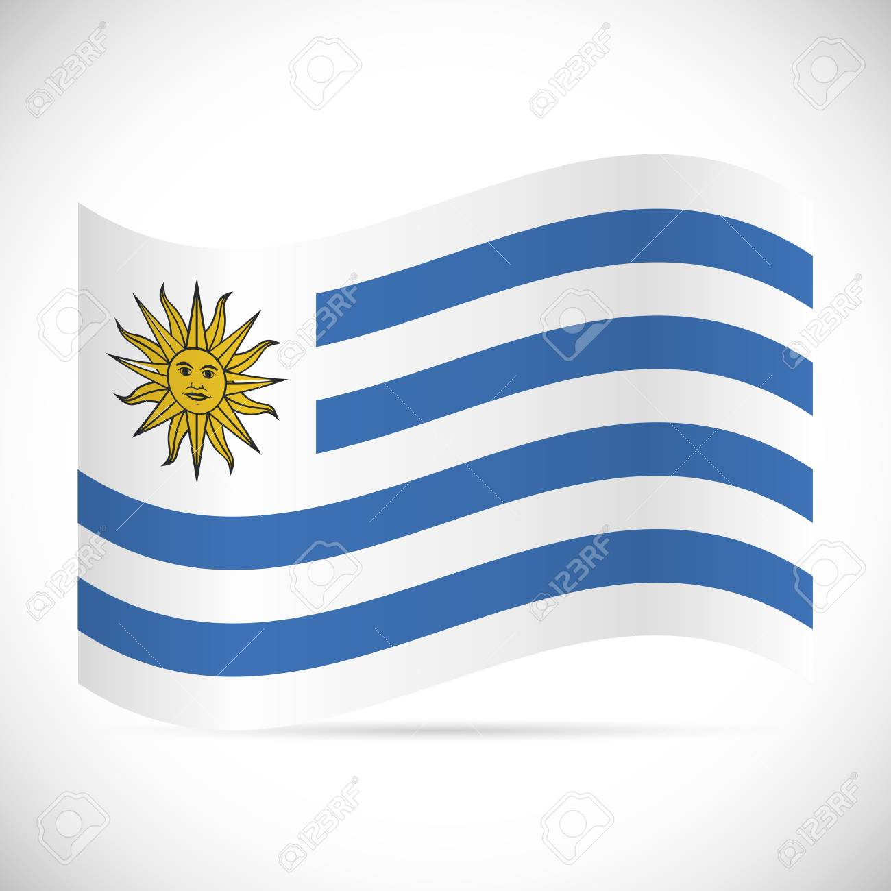 Illustration of the flag of Uruguay isolated on a white background. - 97016255