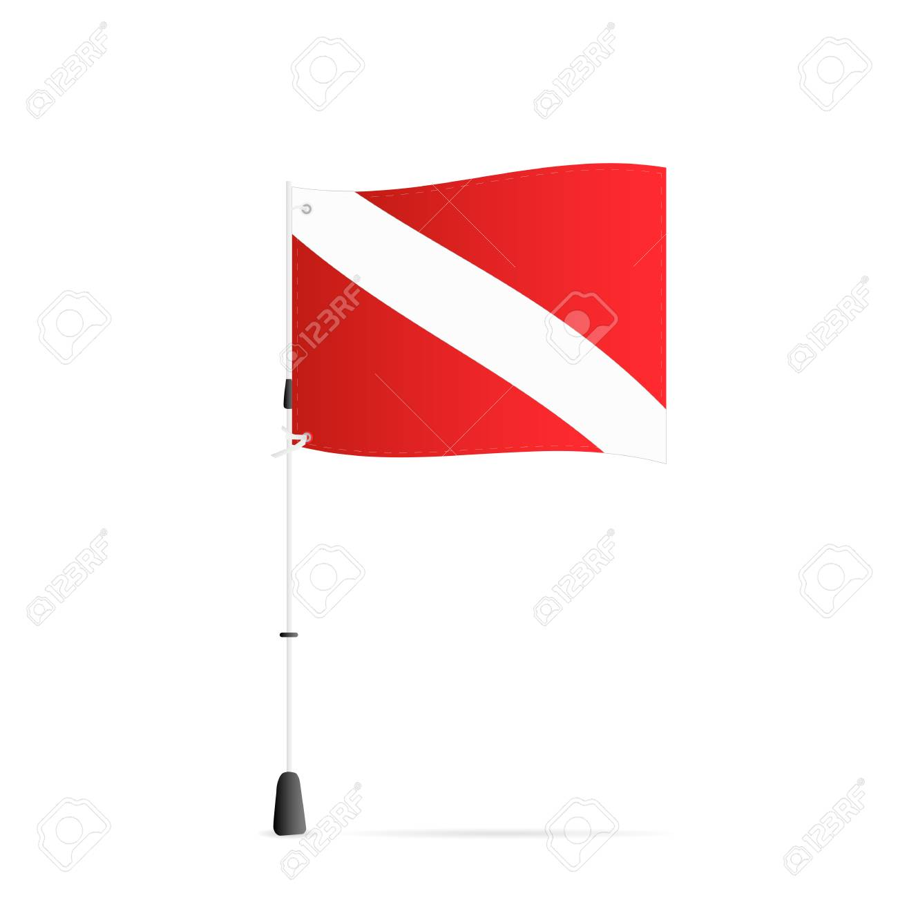 Illustration of a scuba flag isolated on a white background. - 97016350