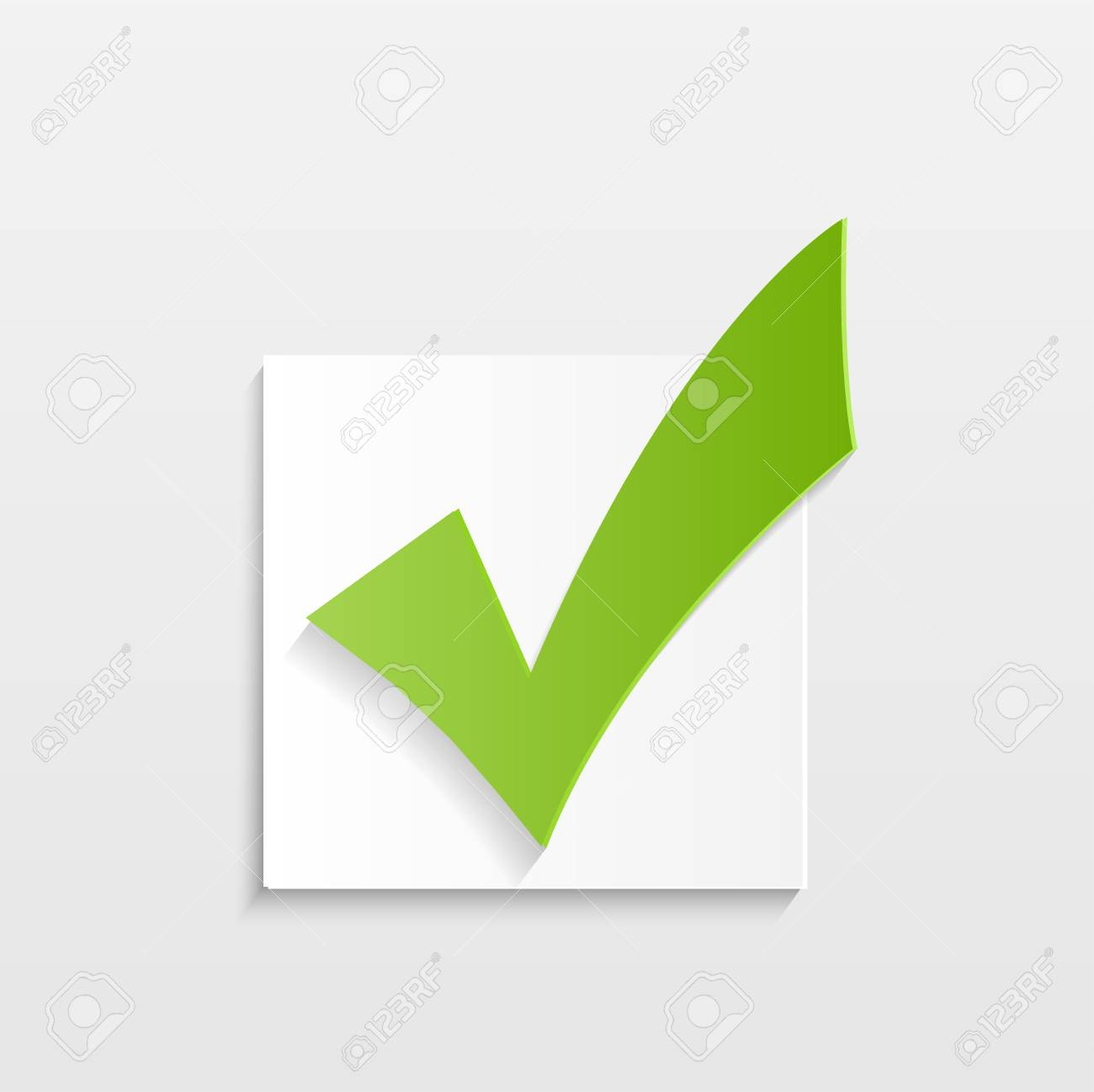 Illustration of a check mark isolated on a white background. - 97016351