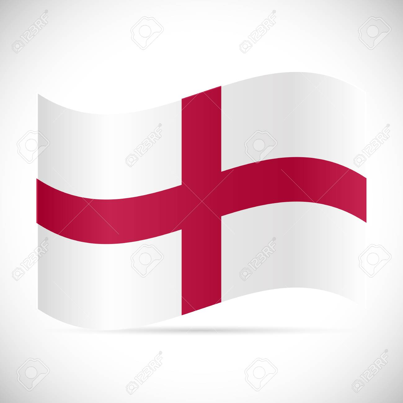 Illustration of the flag of England isolated on a white background. - 97016369