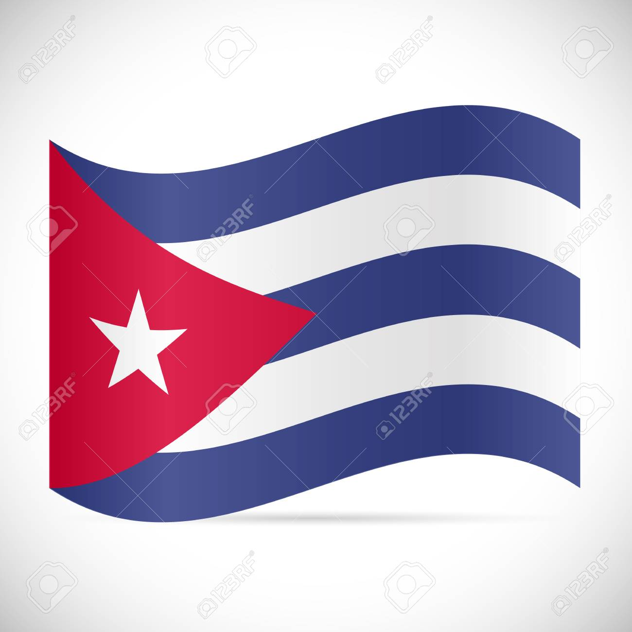 Illustration of the flag of Cuba isolated on a white background. - 97016372