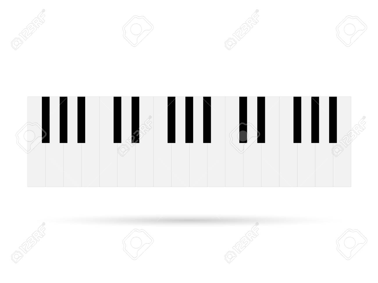 Illustration of piano keys isolated on a white background. - 97102080