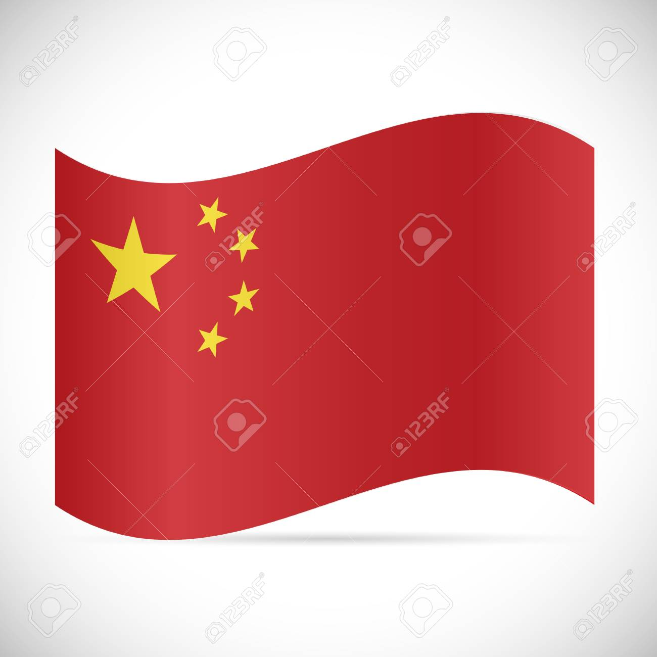 Illustration of the flag of China isolated on a white background. - 97102079