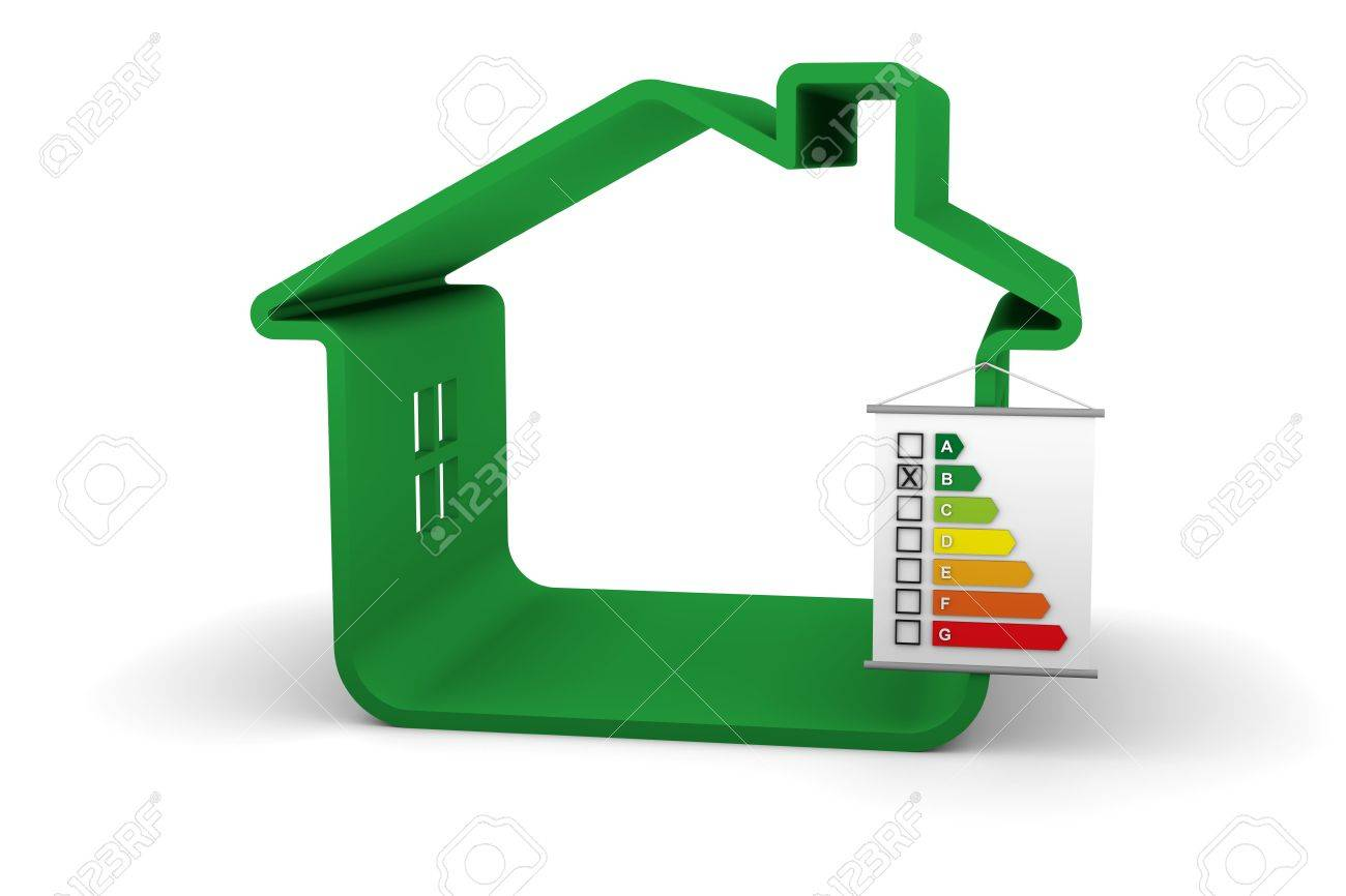 Building Energy Performance B Classification Stock Photo - 5021785