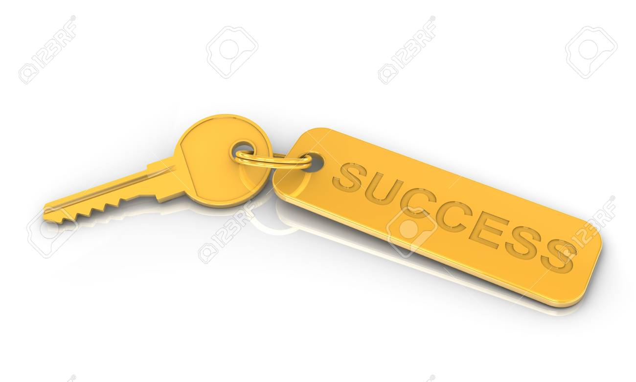 Golden key to success on a white background. Image concept and part of a series. Stock Photo - 6476291