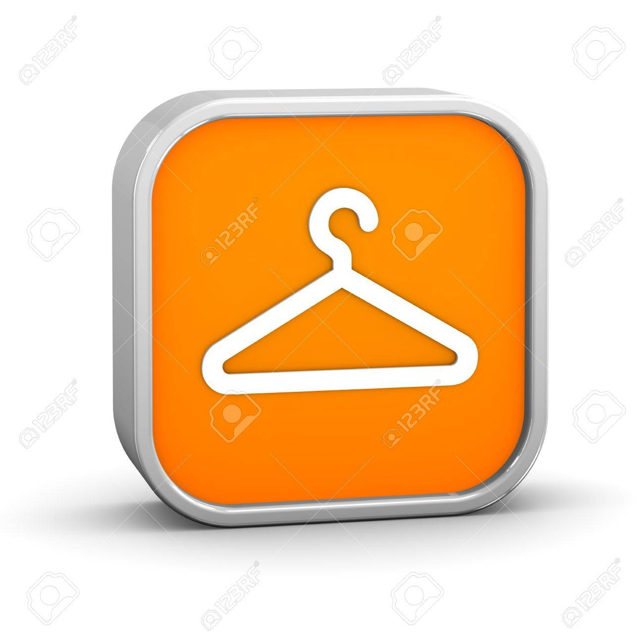 Coat Check Sign On A White Background Part Of Series Stock Photo