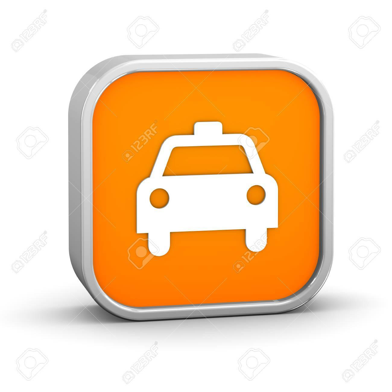 Taxi sign on a white background. Part of a series. Stock Photo - 8802198