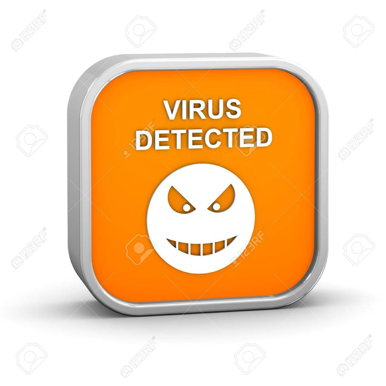 Virus Detected Sign on a white background. Part of a series. Stock Photo - 12017050