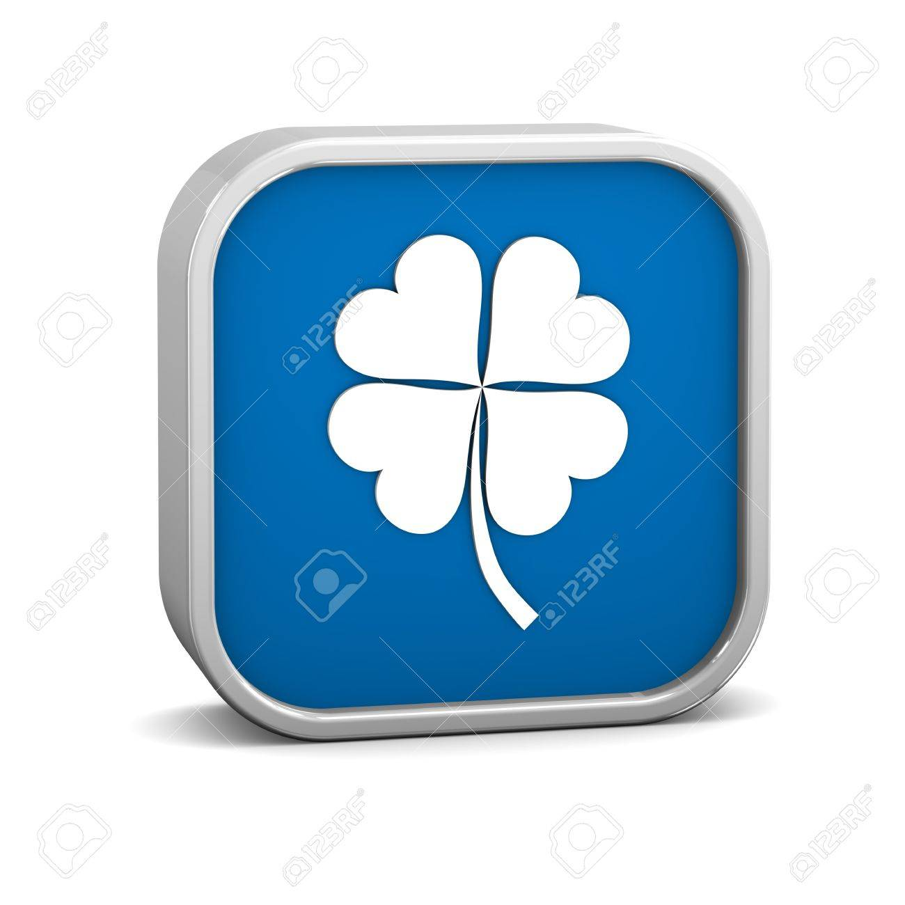Four Leaf Clover Sign on a white background. Part of a series. Stock Photo - 12145778