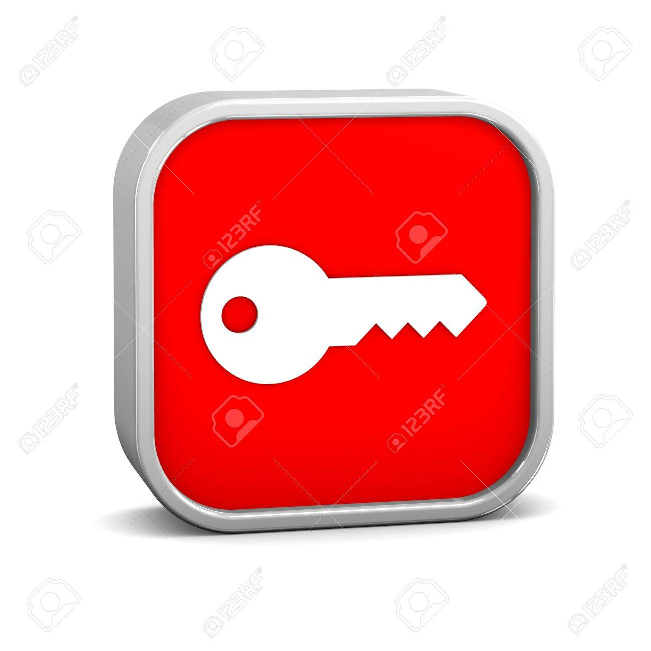 Key Sign on a white background. Part of a series. - 12423410