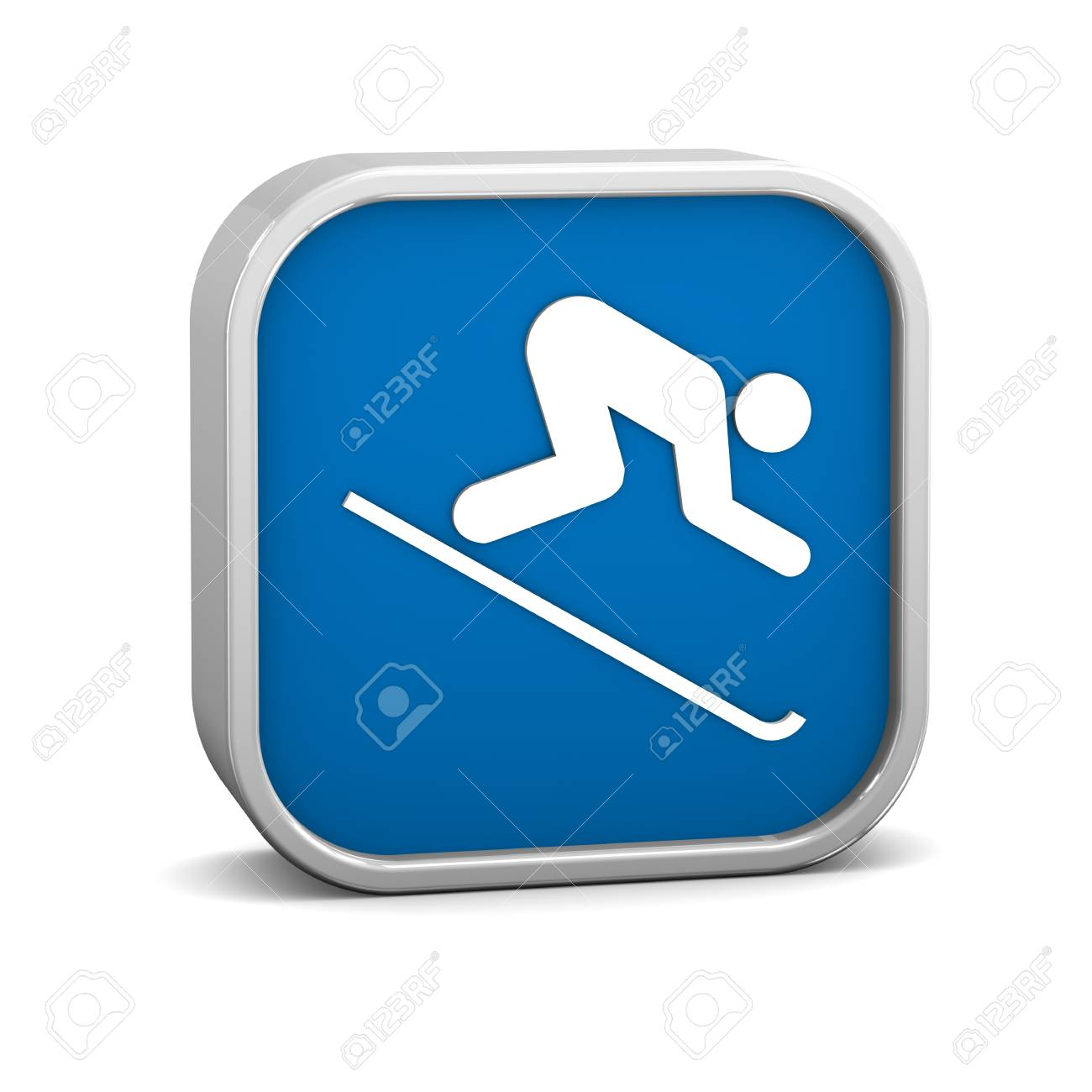 Downhill skiing sign on a white background  Part of a series Stock Photo - 13245251
