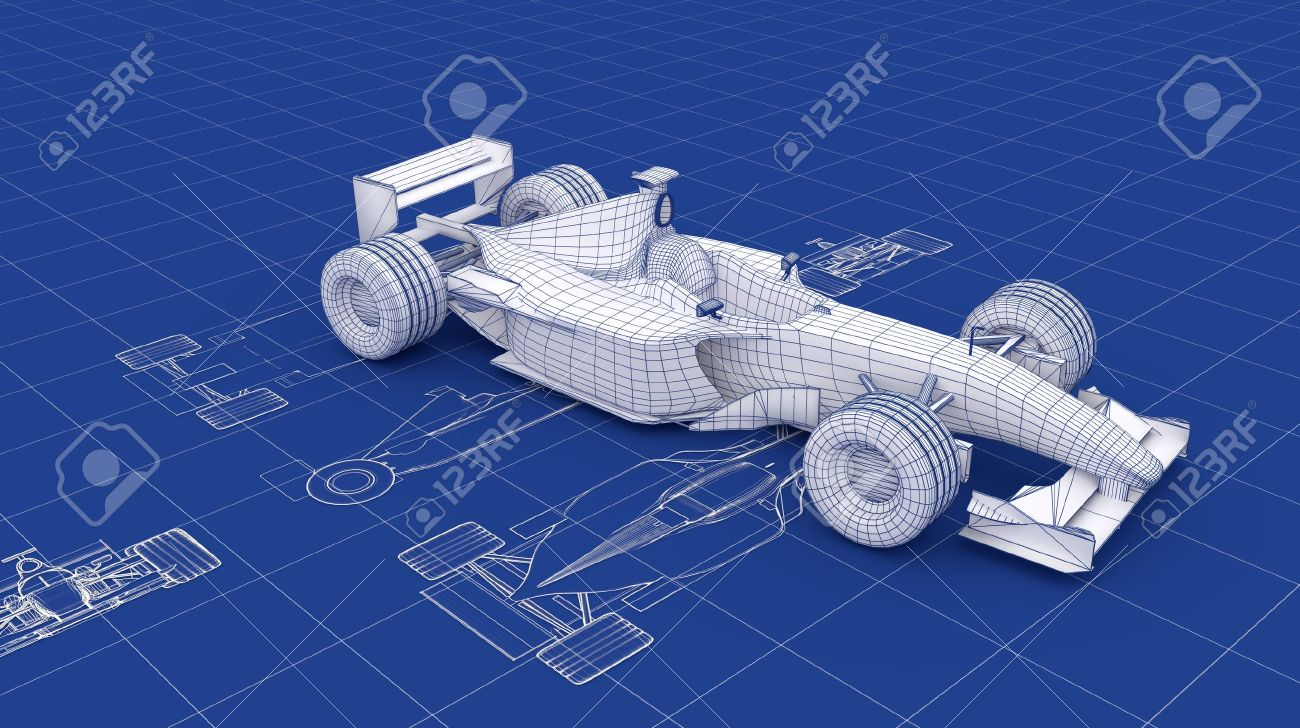Formula racing car blueprint stock photo picture and royalty free formula racing car blueprint stock photo 13541363 malvernweather Choice Image