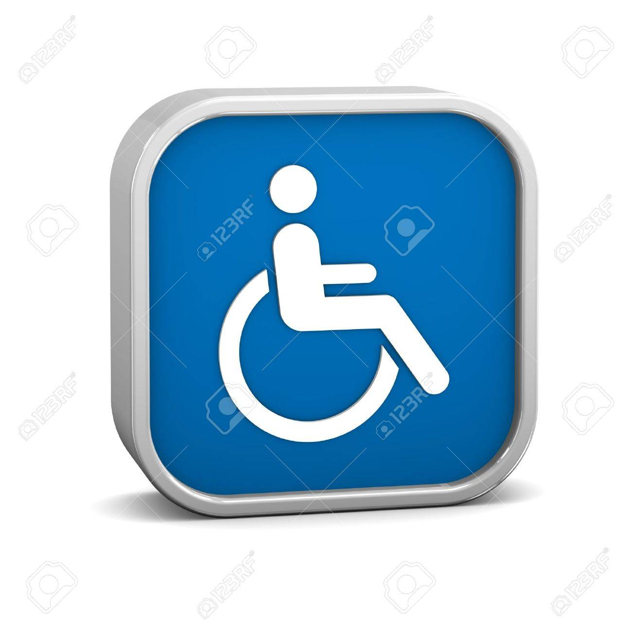 Wheelchair Accessible sign on a white background. Part of a series. Stock Photo - 13631272