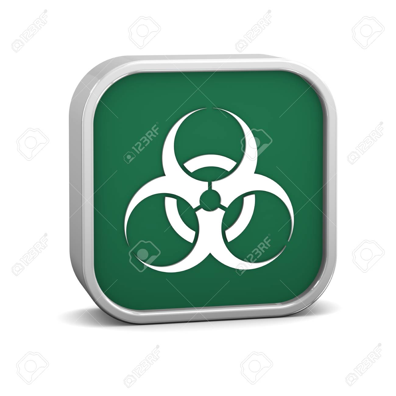Biohazard sign on a white background. Part of a series. Stock Photo - 13701481
