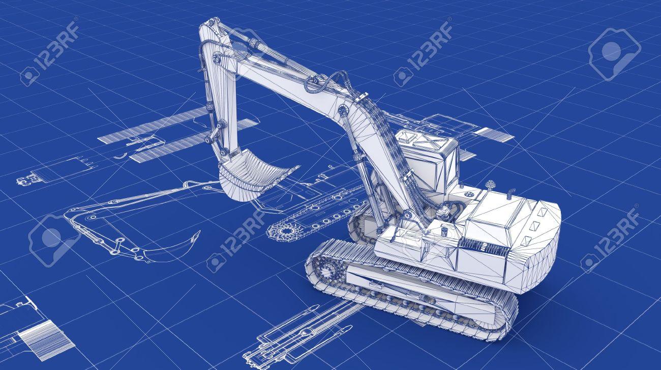Excavator Blueprint Part of a series