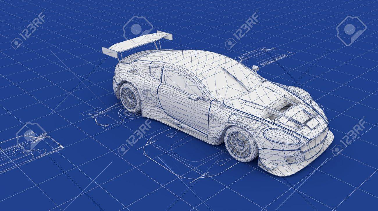 Blueprint race car part of a series stock photo picture and blueprint race car part of a series stock photo 15903547 malvernweather Images