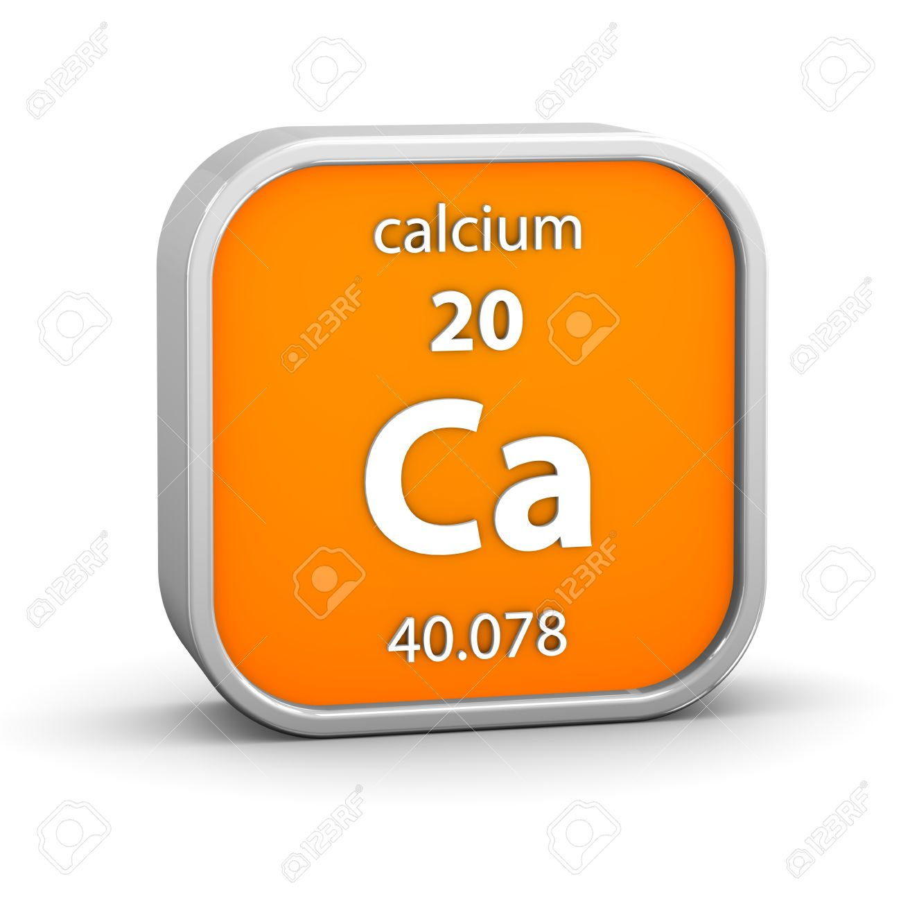 Calcium Material On The Periodic Table Part Of A Series Stock Photo