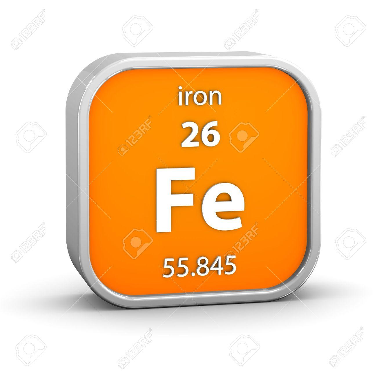 foto de archivo hierro material en la tabla peridica parte de una serie - Tabla Periodica De Los Elementos Hierro