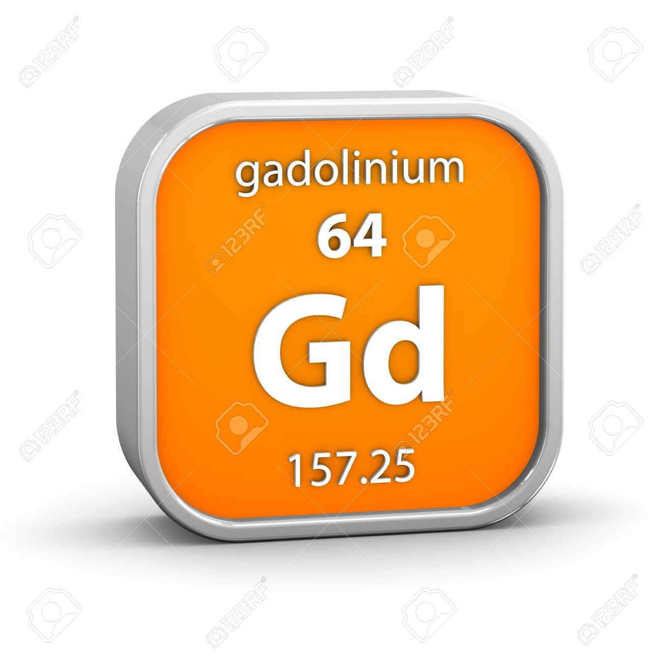 Gadolinium material on the periodic table  Part of a series Stock Photo - 18861205