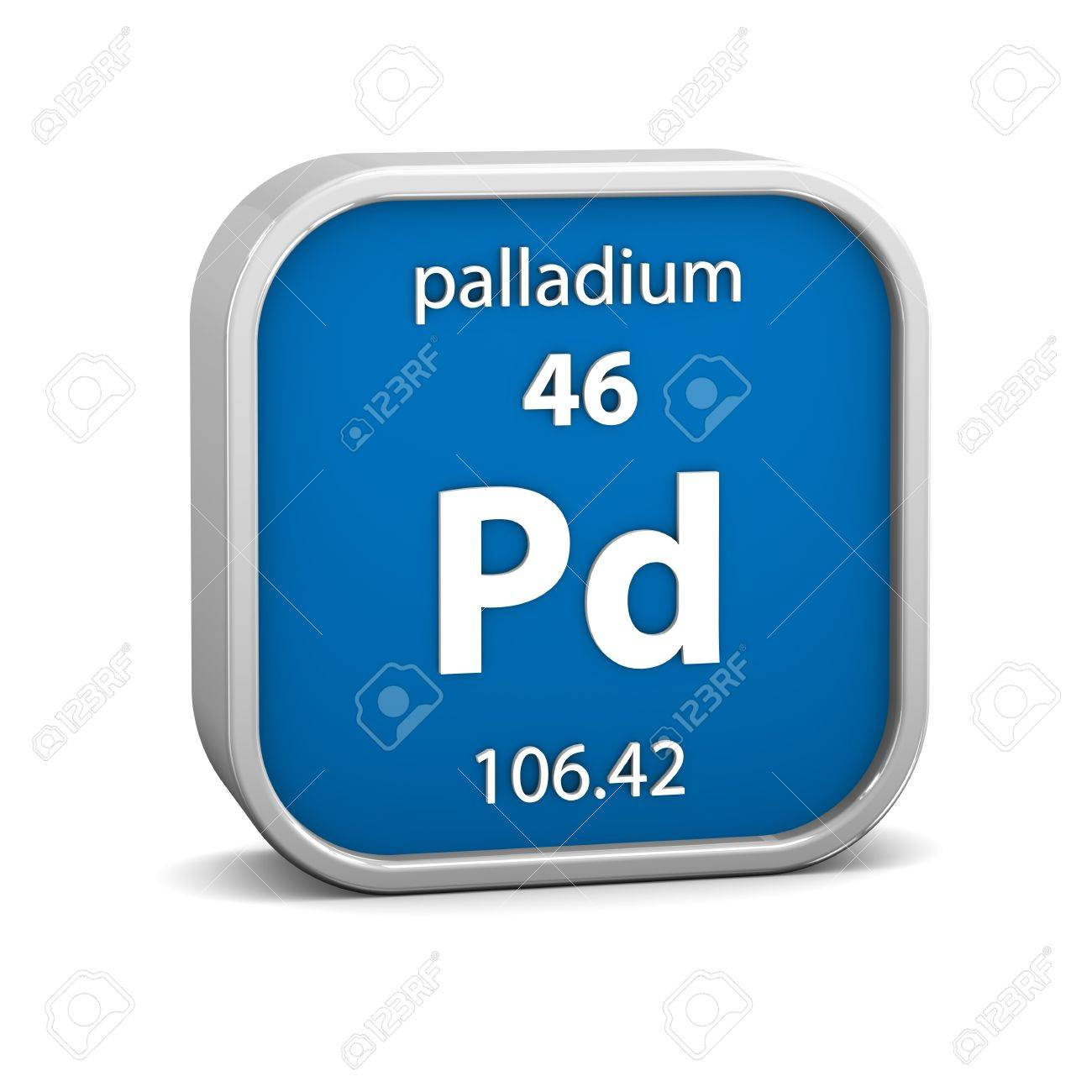 Palladium Material On The Periodic Table Part Of A Series Stock