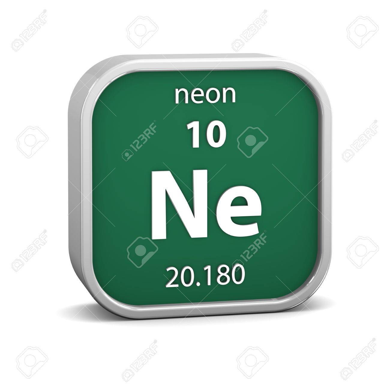 Neon Material On The Periodic Table. Part Of A Series. Stock Photo ...