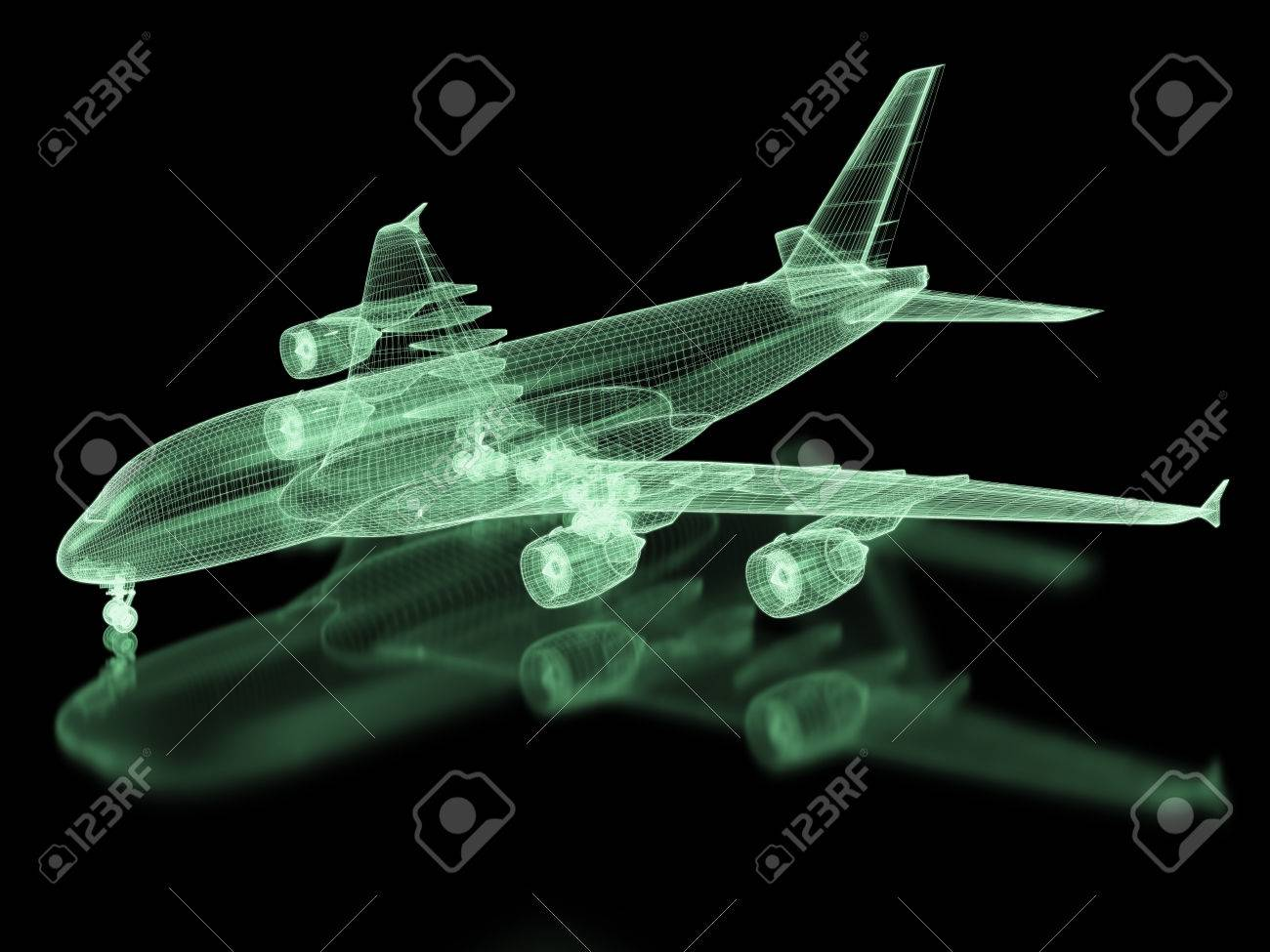 Commercial Aircraft Mesh Part Of A Series Stock Photo