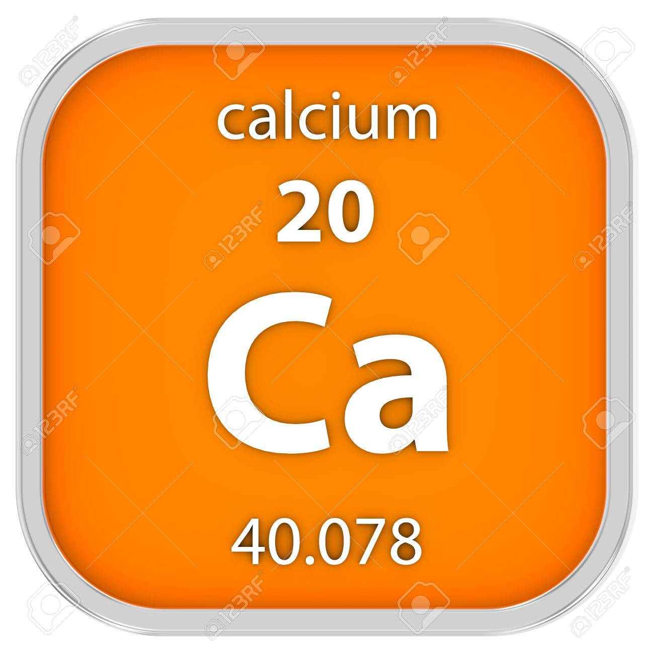 Calcium Material On The Periodic Table Part Of A Series Stock