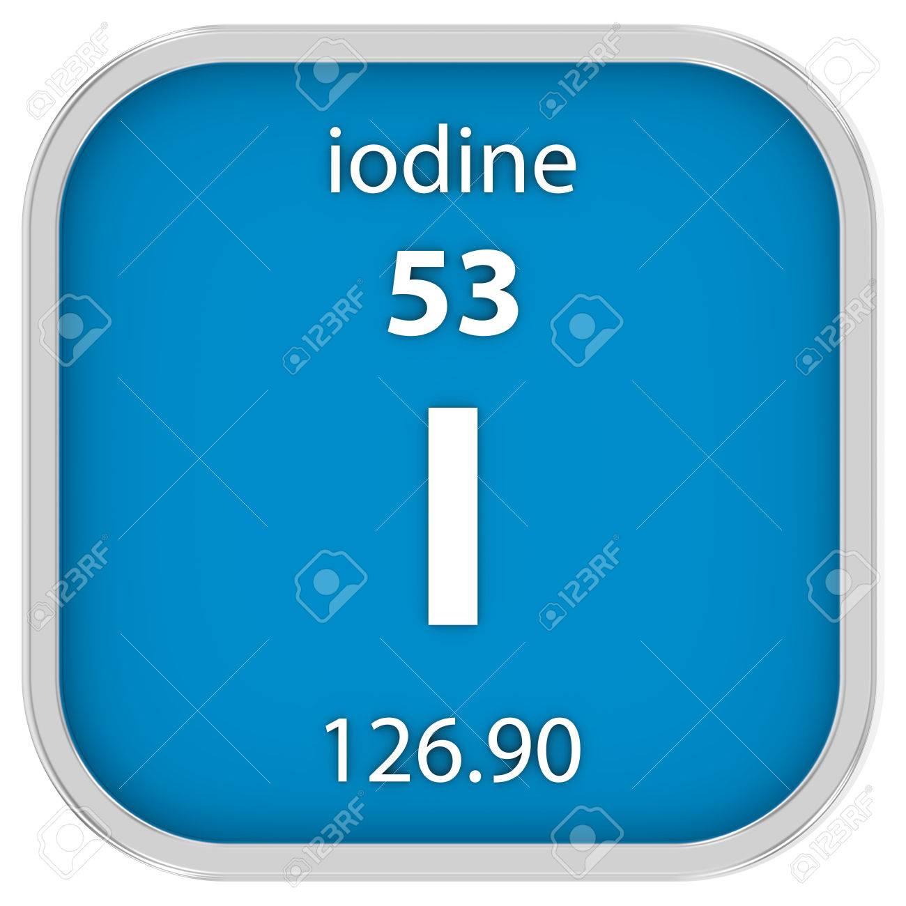 Iodine on periodic table images periodic table images iodine material on the periodic table part of a series stock iodine material on the periodic gamestrikefo Choice Image