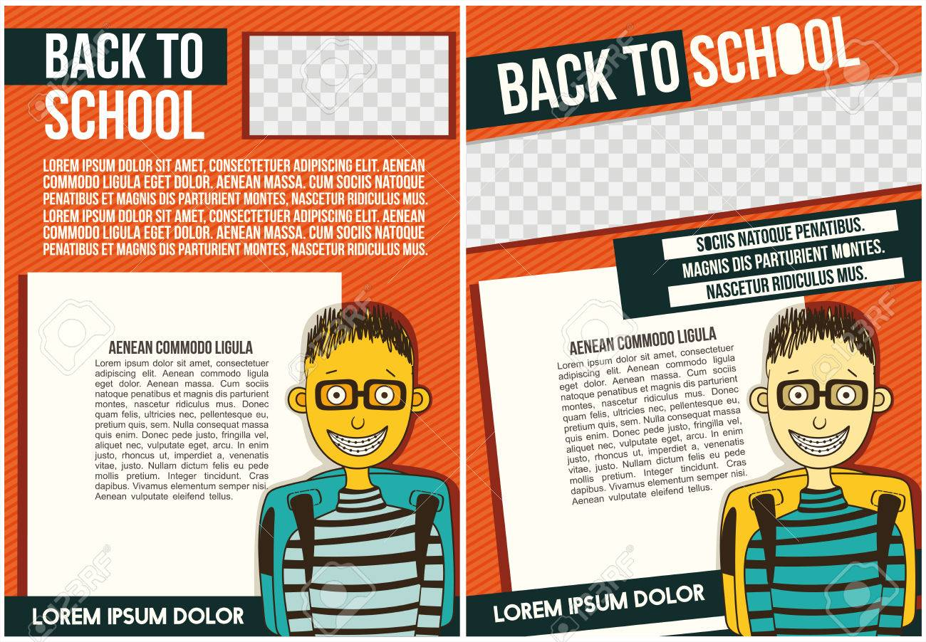 school college flyer template royalty free cliparts vectors and