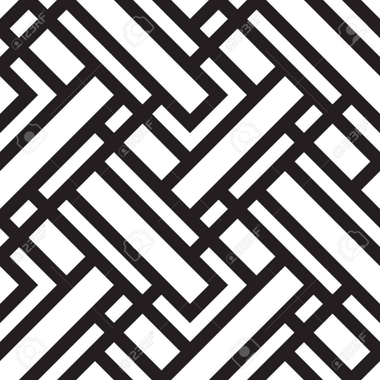 Schwarz Weiss Abstraktes Muster Geometrische 6