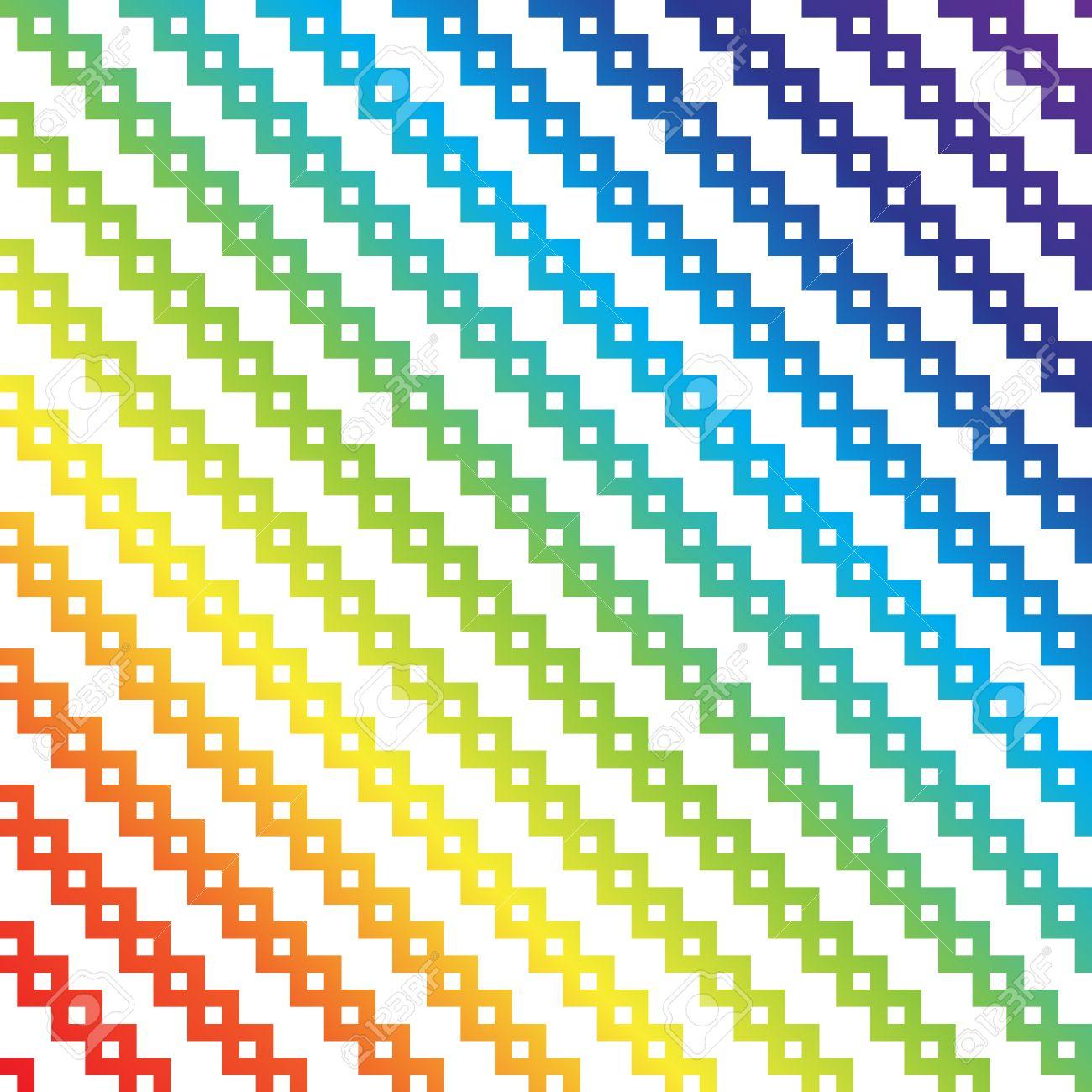 pixel art arc en ciel