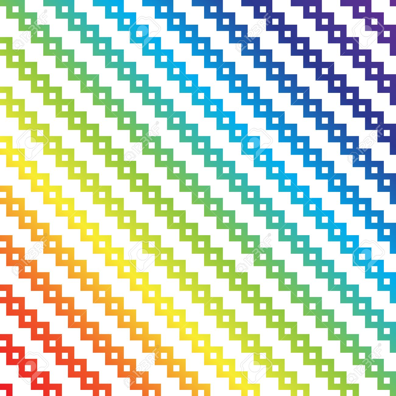Rainbow Pixel Art Vector Abstract Background Pattern