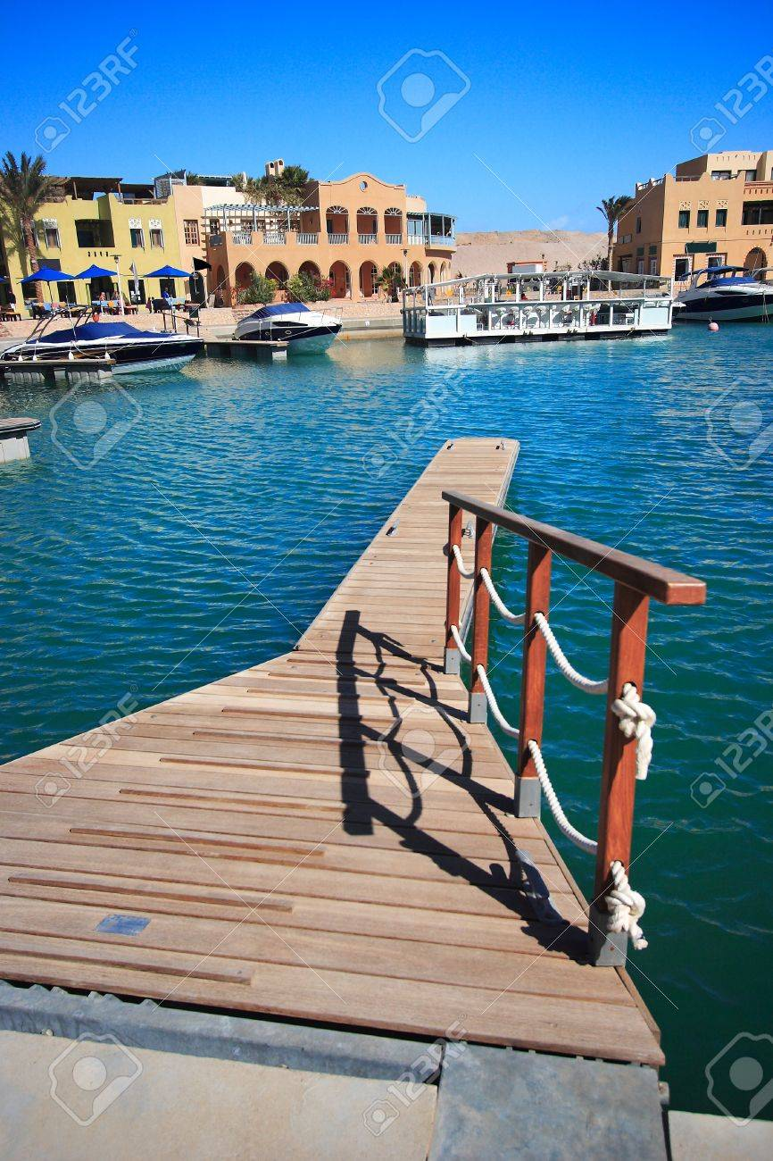 Luxury yachts at El Gouna, Egypt, on the Red Sea. Stock Photo - 10719773