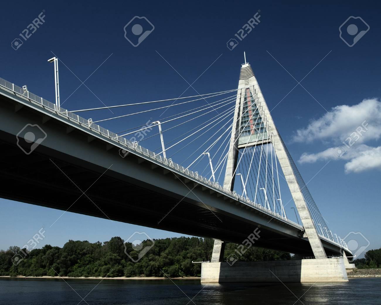 The Megyeri bridge. Hungary Stock Photo - 20533634