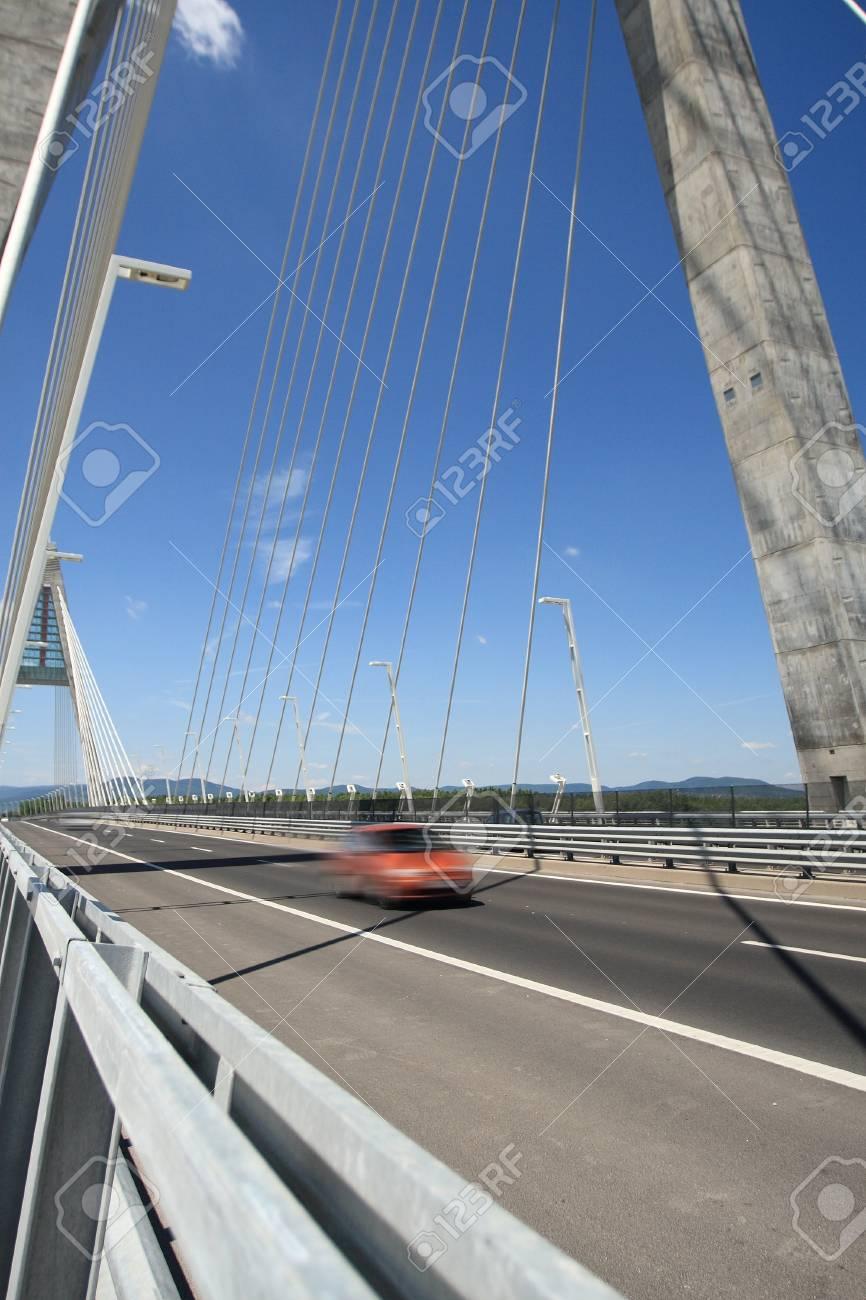 The Megyeri bridge. Hungary Stock Photo - 21070495