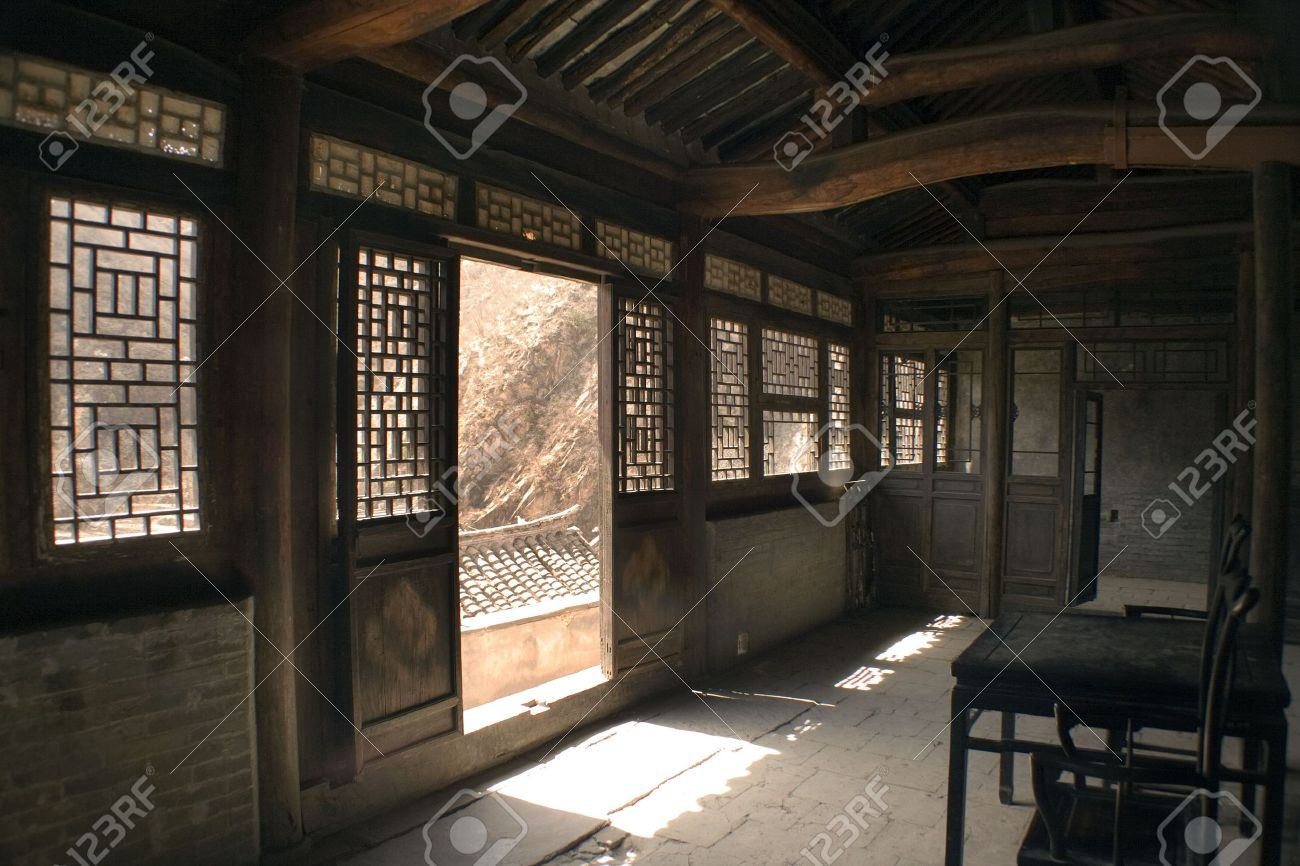 Interior Of An Old Chinese House Stock Photo, Picture And Royalty ...