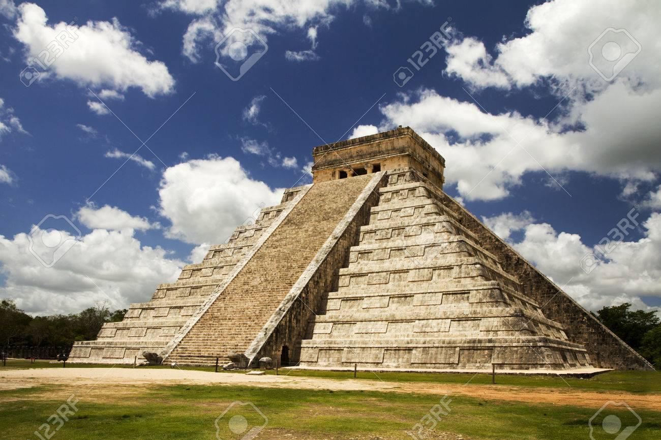 Impressive Mayan Arts And Architecture In Mexico Stock Photo
